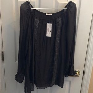 AMO NWT silk tunic Made in Italy One Size